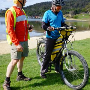 Fat bike ride mit Dave in Hobart